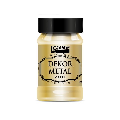 Dekor metal mat 100 ml - ZLATÁ