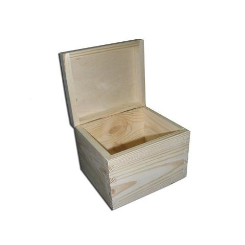 239c89fd1 Dřevěná čtvercová krabička s víkem vysoká